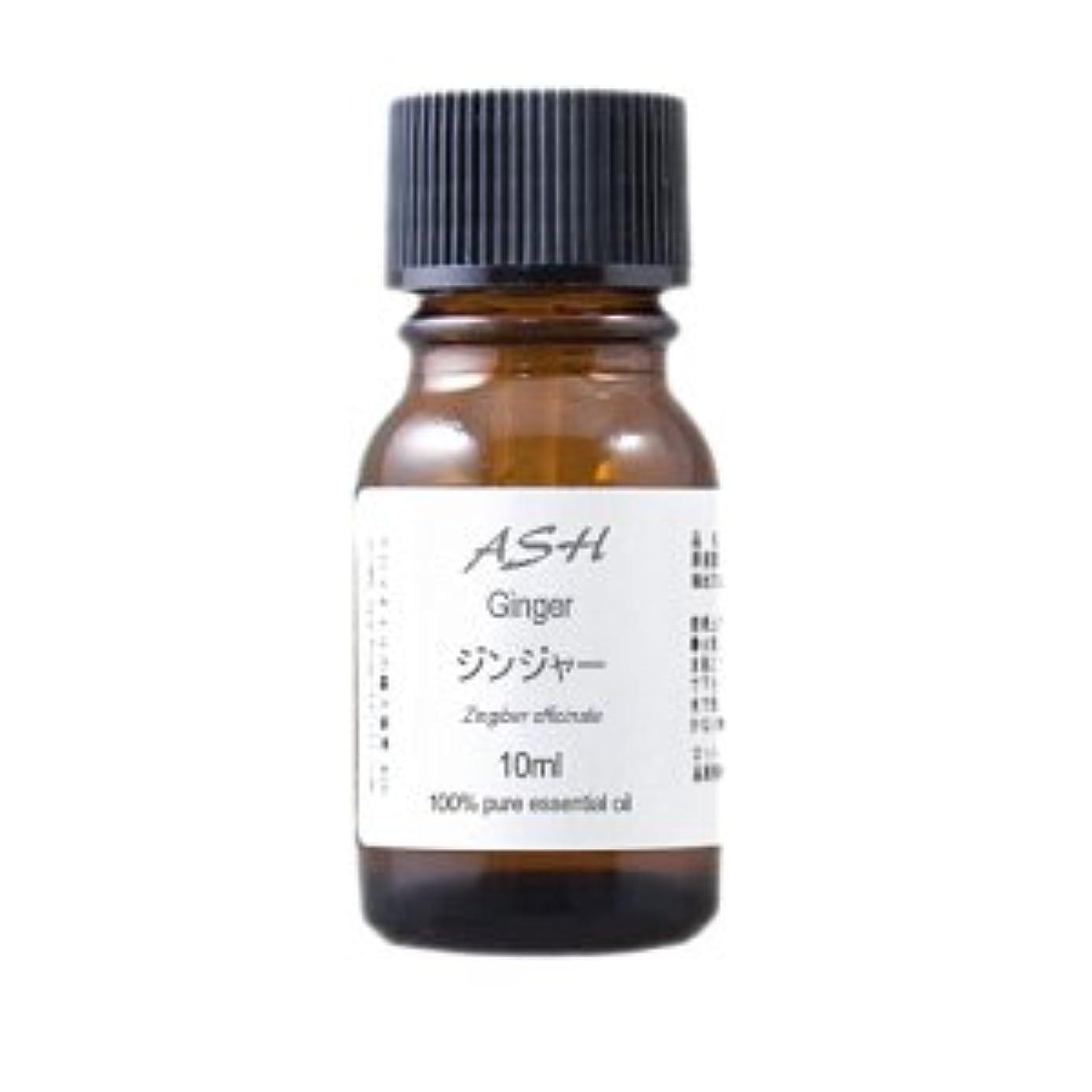 リハーサル強化無傷ASH ジンジャー エッセンシャルオイル 10ml AEAJ表示基準適合認定精油