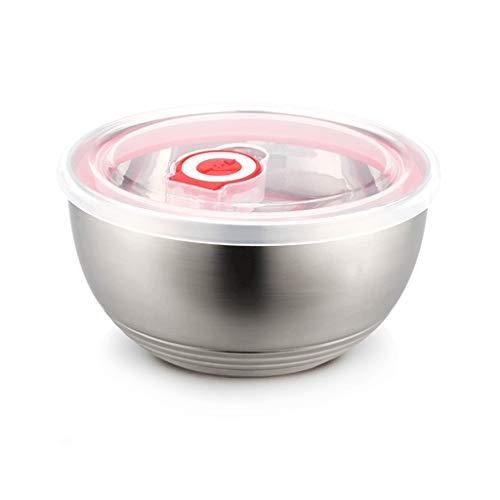 Fliyeong - Juego de cuencos de arroz con tapa de acero inoxidable para el hogar, la escuela y la oficina, 1 unidad, elegante y popular