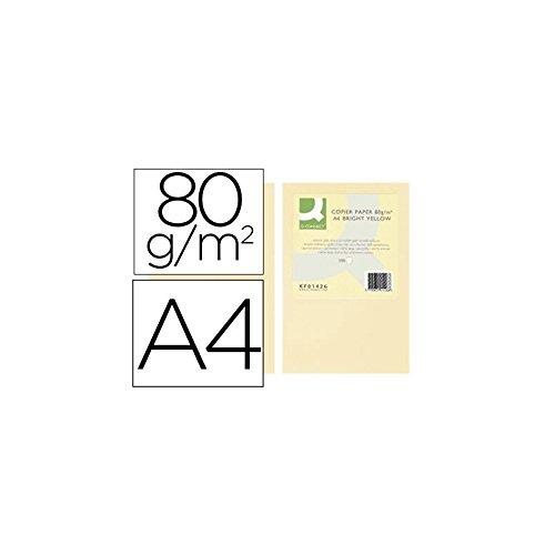 Q-Connect Papel Color Din A4 80Gr Crema Paquete De 500 Hojas