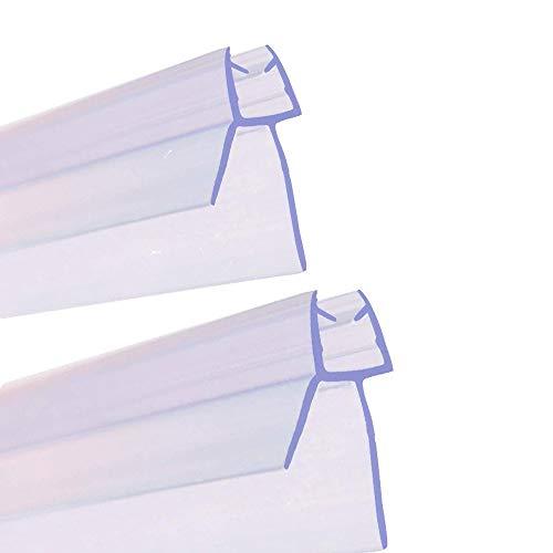 SACHUKOT 2pcs Tiras de Gomas Sellados de Baño 90cm(Entre 6 a 8 mm) de Largo para Mampara de Baño o de Ducha o Puerta de Cristal