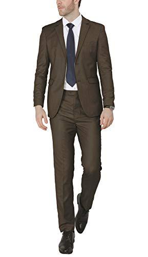 Van Heusen Men's Modern Slim Fit Flex Stretch Suit, Bright Navy, 44 Regular