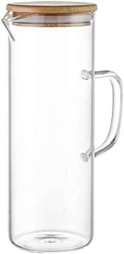 Tetera Tetera 1.0 L/L Contenedor de vidrio Jarra de agua Botella de agua con tapa Jugo jarra de vidrio jarra antiexplosión jarra de té vertedor resistente al calor