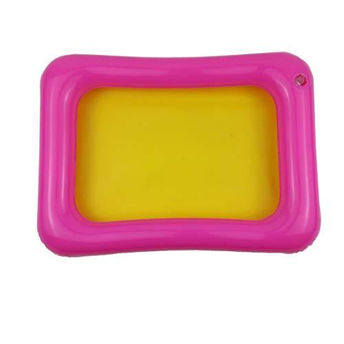 Opblaasbare zandbak Kasteel Mobiele tafel PVC zandbak sensorbak Grappige indoor speelgoed zwembadbak voor kinderen - Willekeurig 35x25cm
