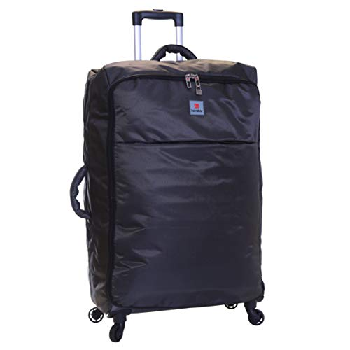 Karabar Extra Large Suitcase Luggage Bag Super Lightweight XL 77 cm 2.9 kg 100 litres with 4 Wheels, Mallorca Black