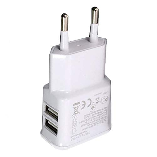 Lodenlli 1A Adaptador de Corriente USB Dual portátil Cargador de teléfono móvil...