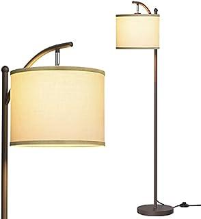 addlon フロアライト フロアランプ LED フロアスタンド LED電球付き おしゃれ 間接照明 目に優しい 組立簡単 寝室・リビング・ルーム・書斎・オフィスなど適応 ブラウン