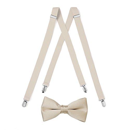 Tan Suspender & Bow Tie Set (Adult)