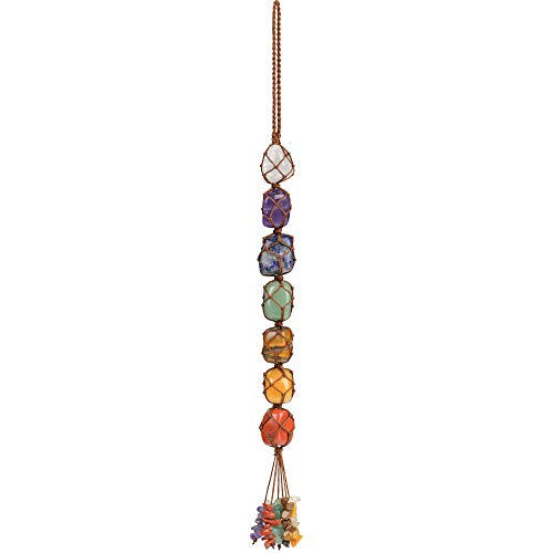 iSTONE Hanging Ornaments 7 Chakra Ornament Set Home Decor Gemstones Reiki Feng Shui Ornament Window Ornament