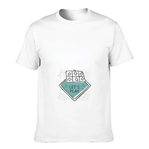 FFanClassic Camiseta de algodón para hombre, diseño de V es para San Valentín, manga corta