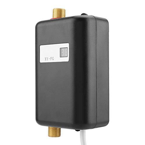 110V 3000W Mini Calentador de Agua Caliente Instantáneo Sin Tanque Eléctrico Con Pantalla LCD Para Baño En Casa Cocina Que Se Lavas EE.(Negro)