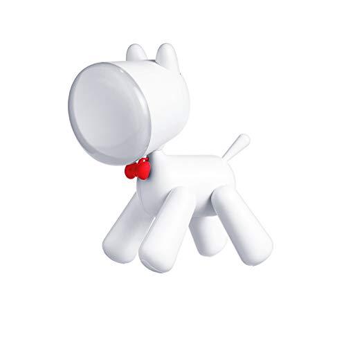 Perro en forma de LED noche luz recargable USB noche luz 2 brillo nivel para leer sueño compañero
