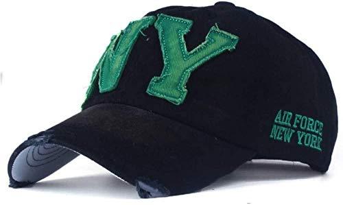 XJIUER hat Unisex Moda Algodón Snapback Sombrero para Hombres Mujeres Sombrero para el Sol Bone Gorras NY Bordado Spring Cap