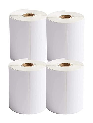4 Etiquetas de rollos Etiquetas térmicas directas en b-lanco Etiquetas térmicas en b-lanco Etiqueta de envío de etiquetas de envío Etiqueta de paquete para impresoras térmicas 4 'x 6' (101mm x 152mm)