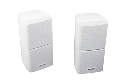 2X Bose Acoustimass Doppelcubes Lautsprecher Satelliten Cubes Lifestyle Weiss