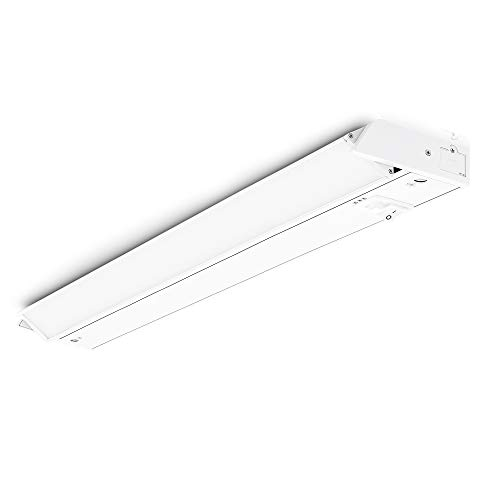 PARMIDA LED Swivel Under Cabinet Light (Adjustable Lens Angle), Hardwired or Plug-in, 24 Inch, 14W, 840lm, Dimmable, Linkable, 3-in-1 Color Levels, On/Off Switch Included, ETL & ENERGY STAR, 120V