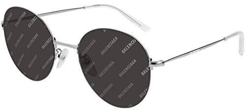 Balenciaga BB0016SK SILVER/GREY 55/20/145 Unisex Sonnenbrillen