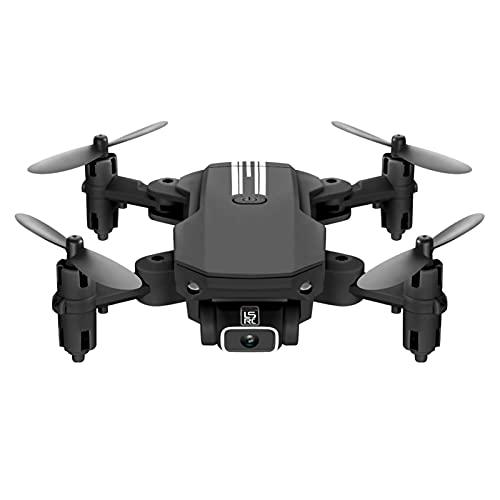 ADFG Drone con Fotocamera, Fotografica Pieghevole per Fotografica ad Alta Definizione Professionale Drone RC, UAV, Altitudine Hold, modalità Senza Testa, Flip 3D, Flight black-1080P