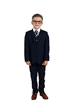Vivaki 5 Piece Slim Fit Navy Suit 0/3m to 14 Years  7/8y