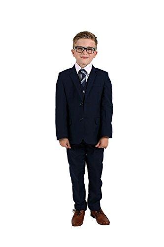 Vivaki Anzug, schmal geschnitten, 5-teilig, marineblau Gr. 7-8 Jahre, navy