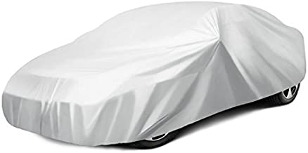 Ohuhu Car Covers for Sedan Cover for Car Windproof UV Protection Universal Sedan Car Covers L (191''-201'')