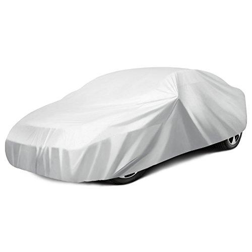 Ohuhu Car Covers for Sedan Cover for Car Windproof UV Protection Universal Sedan Car Covers L...