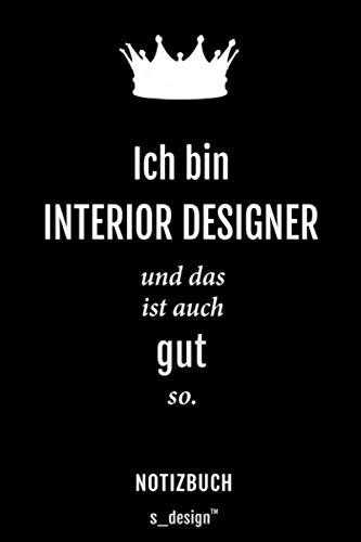 Notizbuch für Interior Designer: Originelle Geschenk-Idee [120 Seiten gepunktet Punkte-Raster blanko Papier]