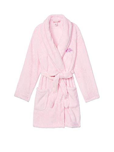 Victoria's Secret Cozy Short Plush Robe Pink About It M/L