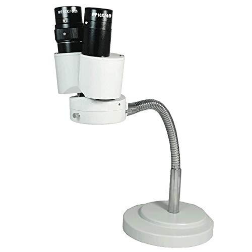 BoliOptics 8X Magnification Binocular Gooseneck Stereo Microscope with 360° Revolve, Dental, Lab, Soldering, Electronic Repair FS12050125