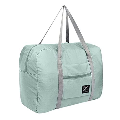 Large Capacity Fashion Travel Bag For Man Women Bag Travel Carry On Luggage Bag (Light blue)