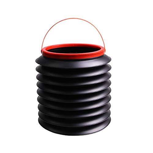 LOMJK Papeleras La Basura Plegable Coche Puede ya Prueba de Fugas Organizador del Coche, a Prueba de Agua de Basura Coche Puede, multipropósito Papelera for el Coche Cubos de Basura