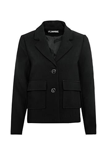 HALLHUBER Blazerjacke mit Kontrastknöpfen Boxy-Silhouette schwarz, 40