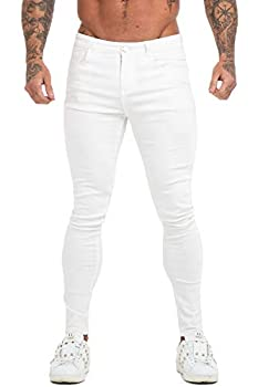 mens white skinny jeans