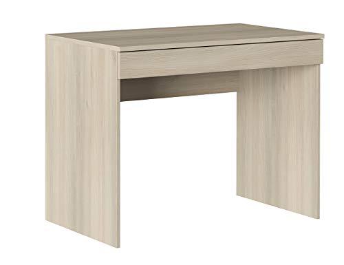 Iconico Home MIK, Scrivania con cassetto, Moderno, Tavolo ufficio a casa, Studio, Porta PC, 100x55,5x76 cm, Rovere