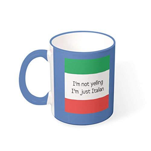 O2ECH-8 11 OZ Ich Schreie Niet, ich Bin Italiaans mok, hoogwaardige keramische humor beker, mok - grappige spreuken vrienden cadeau (aan beide zijden bedrukken)
