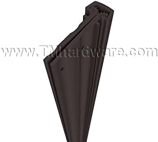 Pemko Heavy Duty Full Mortise Short Leaf Flush Hinge, Dark Bronze Anodized Aluminum, 83
