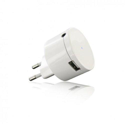 BeeWi BBR100A1 - Adaptador receptor de audio con Bluetooth y enchufe, color blanco