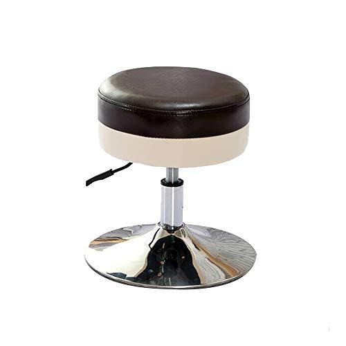 YumEIGE Ronde kruk, glanzend leer + anti-slip chassis + luchtdruk stok, sofa kruk, kantoor, winkel, thuis, make-up kruk, kruk, belasting 90 kg