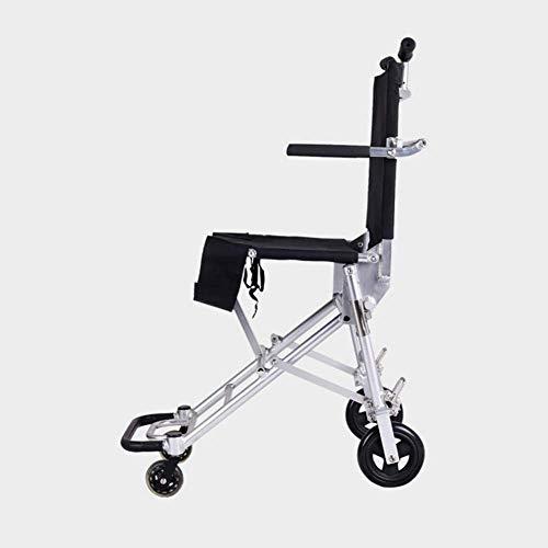 Silla de ruedas ligera que conduce suministros médicos para adultos, silla de ruedas plegable portátil ligera pequeña silla de ruedas vieja scooter puede estar en el avión