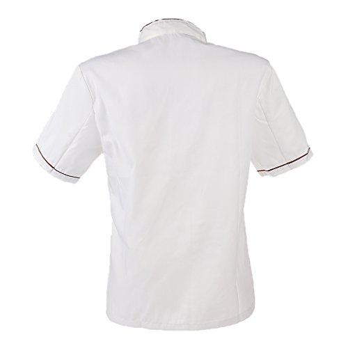 Baoblaze Abrigo Uniforme de Chef Unisex Ropa de Trabajo de Hotel Restaurante Cocinero - rojo, SG