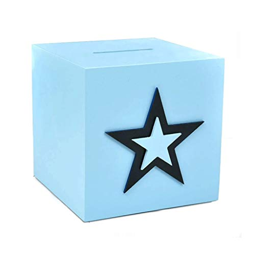 OMING Kids' Money Banks Blue Large-Capacity Piggy Bank an Unopenable Money Box Coin Storage Box Piggy Bank