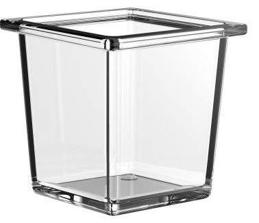 Emco Liaison Glasschale quadratisch für Reling, Kristallglas klar, tief