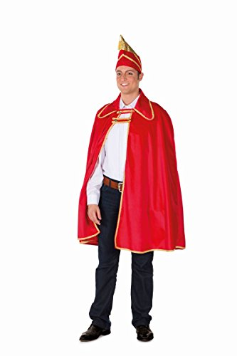 Herren Kostüm Garde Karnevalsprinz Cape Karneval Fasching rot