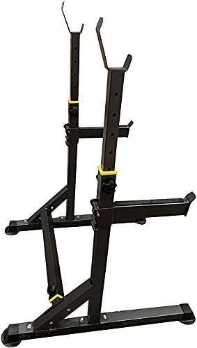 """Multi-Function Barbell Rack Dip Stand Gym Family Fitness Adjustable Squat Rack Weight Lifting Bench Press Dipping Station, Height Range 40.6"""" to 64.2"""""""