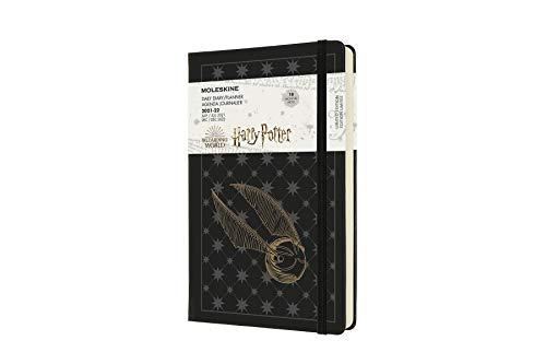 Moleskine - Agenda diaria (de 18 meses, agenda 2021 Harry Potter, gran formato 13 x 21 cm), color Negro