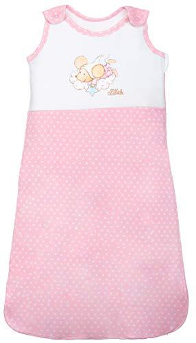 Baby Schlafsack Lillebi für Mädchen Baumwolle von ca. 12-18 Monate - Ganzjahres Schlafsack mit Sternen - Farbe: Rosa - Größe: 90 von Steinbeck
