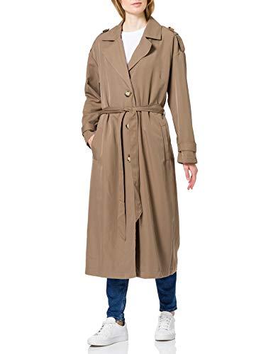 ONLY Carmakoma Damen Carline X-Long OTW Trenchcoat, Walnut, M-46/48