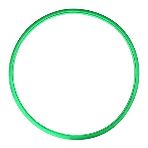 no brand Pneu Solide 700X23C antidéflagrants pneus extérieurs Fixes Free Gear gonflables Pneus Vide Faire du vélo des pneus for vélo de Route (Color : Green)