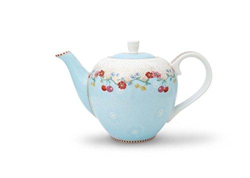 Pip Studio Teekanne small Tea Pot Cherry Blau Blue