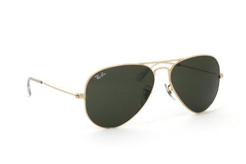 Ray-Ban AVIATOR RB3025 L0205 Sonnenbrille - Gelb/G15 [Mittel 58mm] Pilotenbrille