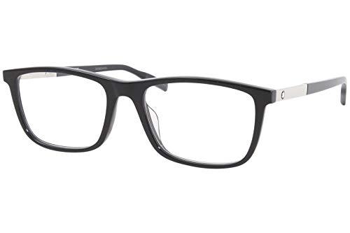 Montblanc Occhiale da Vista MB0021O 005 nero montatura plastica taglia 57 mm occhiale uomo